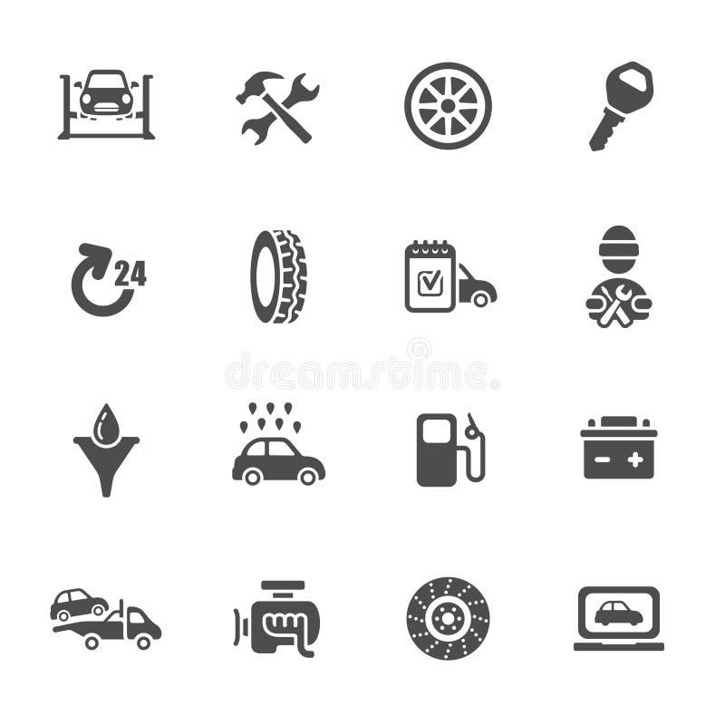 Комплект значка обслуживания автомобиля бесплатная иллюстрация