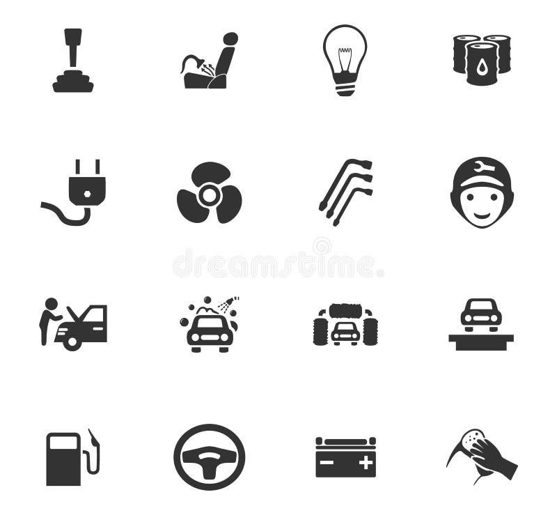Комплект значка обслуживания автомобиля стоковое изображение rf