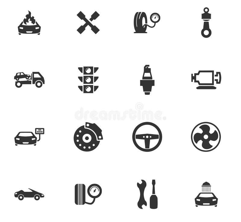 Комплект значка обслуживания автомобиля стоковые фото