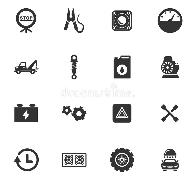 Комплект значка обслуживания автомобиля стоковые изображения