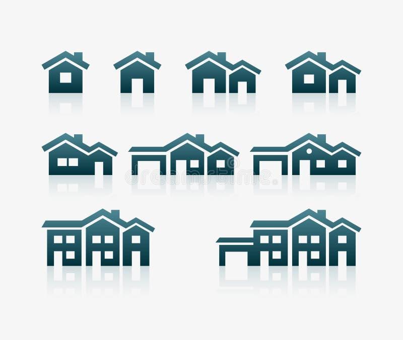 Комплект значка дома бесплатная иллюстрация