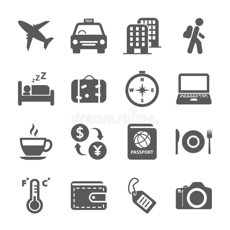 Комплект значка перемещения и туризма, вектор eps10 бесплатная иллюстрация