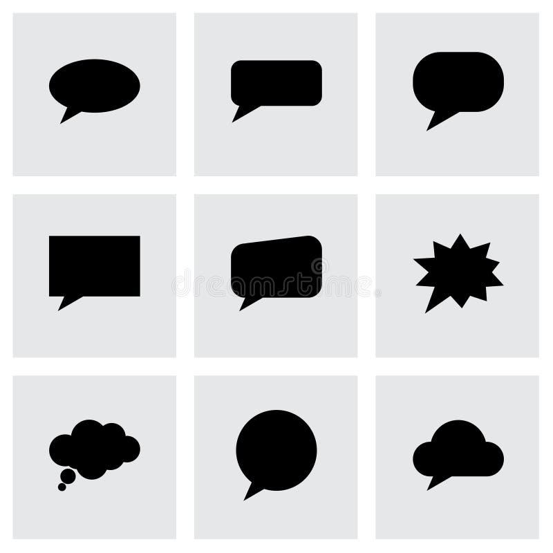 Комплект значка пузырей речи вектора иллюстрация штока