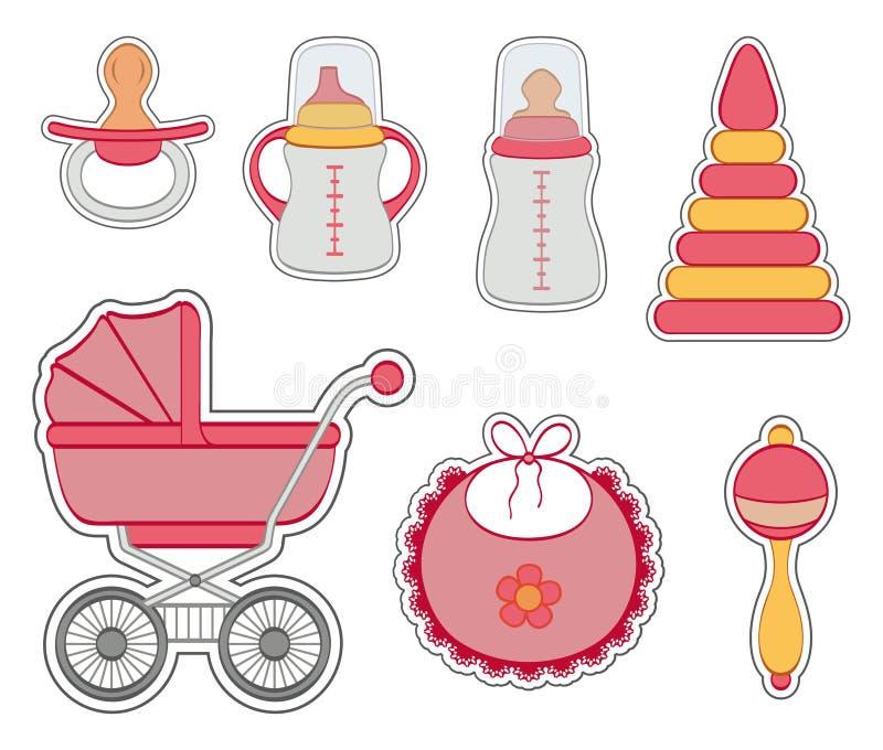Download Комплект значка ребёнка иллюстрация вектора. иллюстрации насчитывающей собрание - 33729598