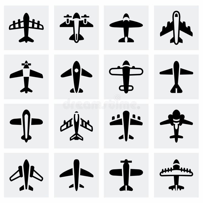 Комплект значка самолета вектора бесплатная иллюстрация