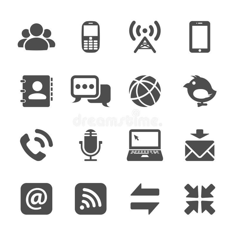 Комплект значка связи интернета, вектор eps10 бесплатная иллюстрация