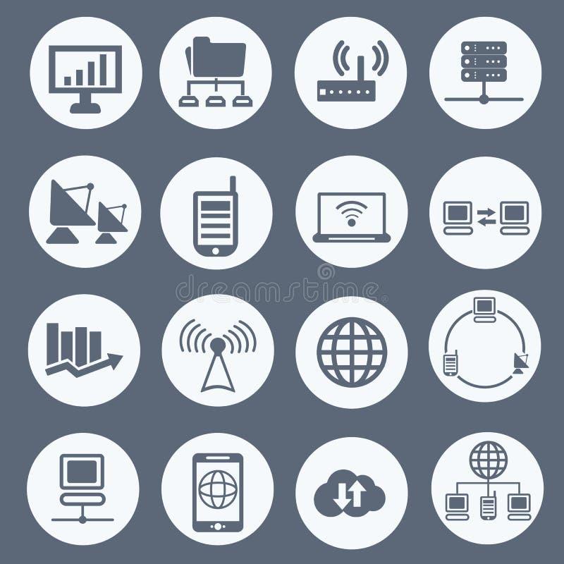 Комплект значка связи и сети бесплатная иллюстрация