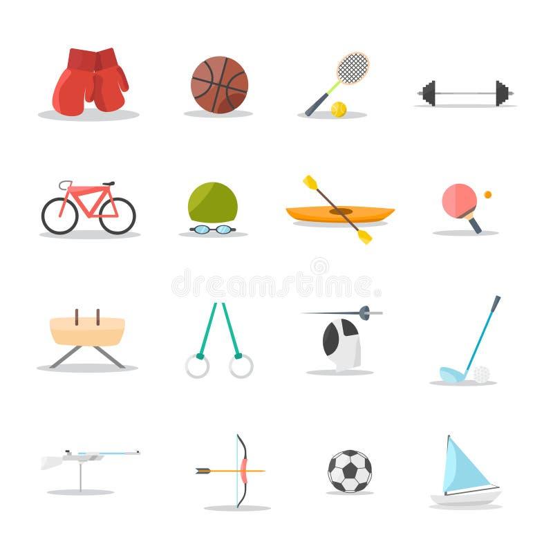 Комплект значка спорта стоковое фото rf