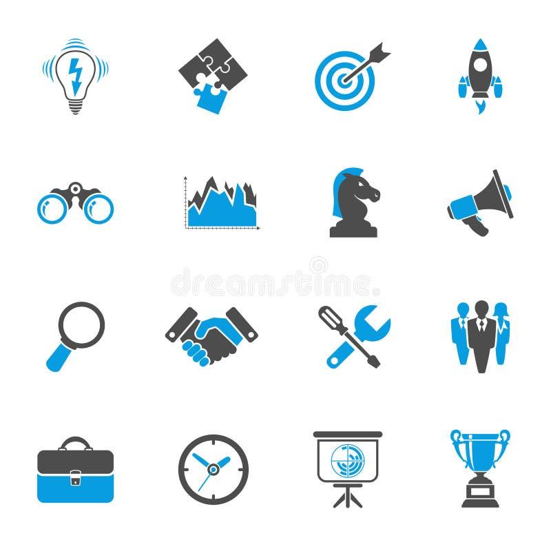 Комплект значка стратегии бизнеса бесплатная иллюстрация