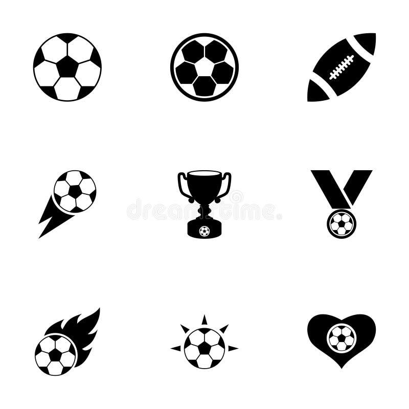 Комплект значка футбола вектора иллюстрация вектора