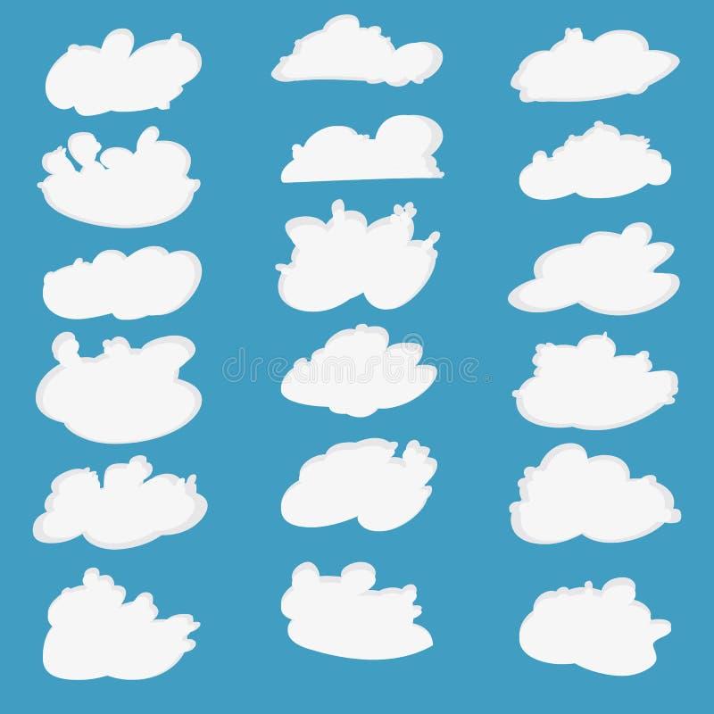 Комплект значка шаржа вектора облака бесплатная иллюстрация