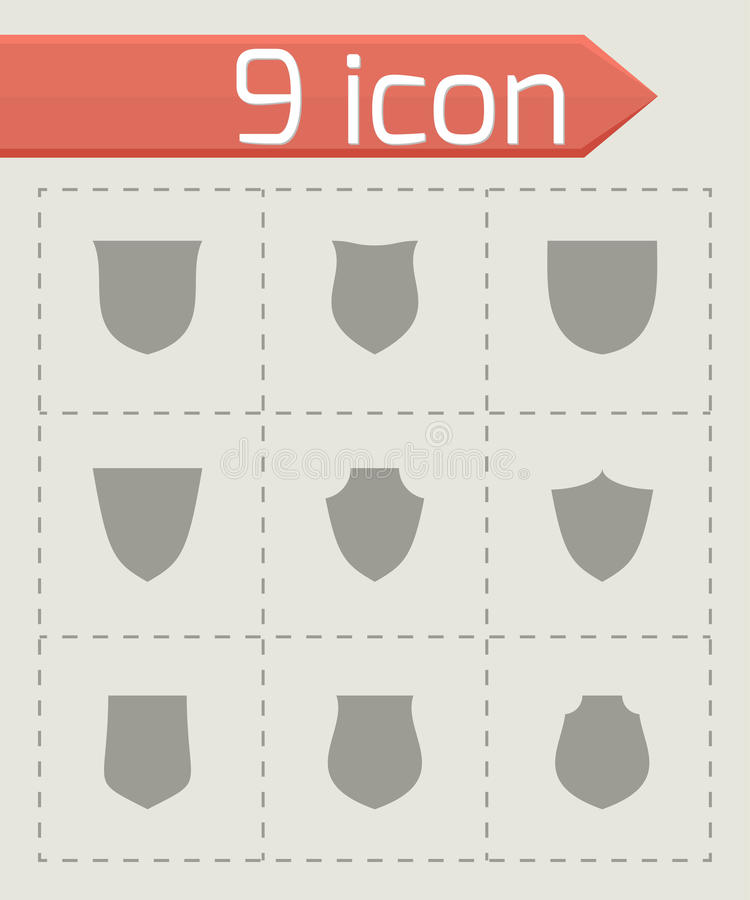 Комплект значка экрана вектора иллюстрация штока