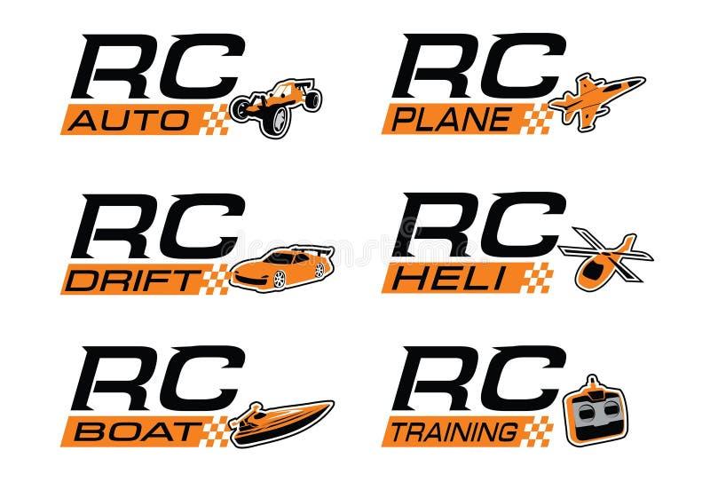Комплект значка Rc стоковые изображения rf