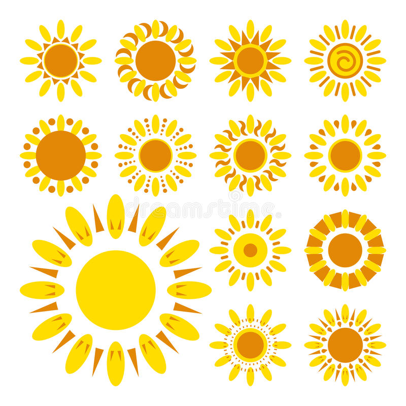 Комплект значков маргаритки Силуэты простых цветков вектора бесплатная иллюстрация