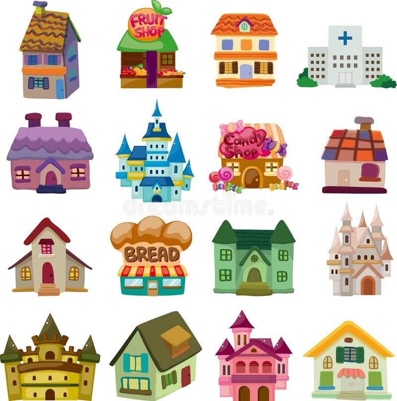 Комплект значков дома иллюстрация штока