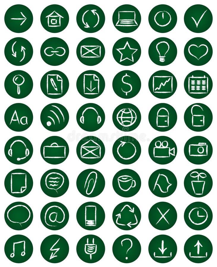 Комплект 48 значков сети бесплатная иллюстрация