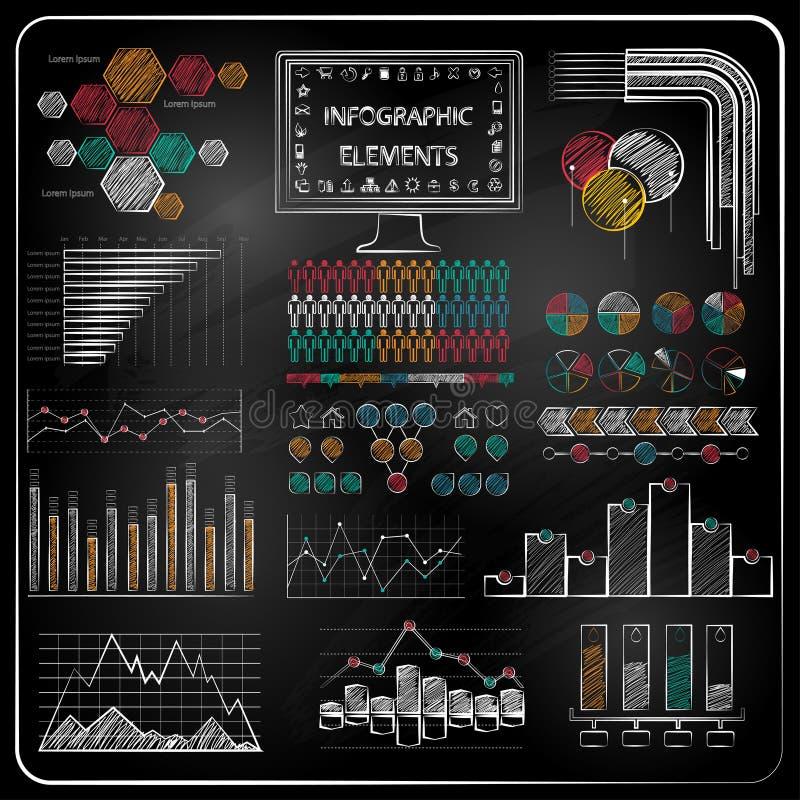 Комплект значков infographics и дела доски. бесплатная иллюстрация