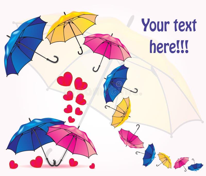 Комплект зонтиков иллюстрация штока