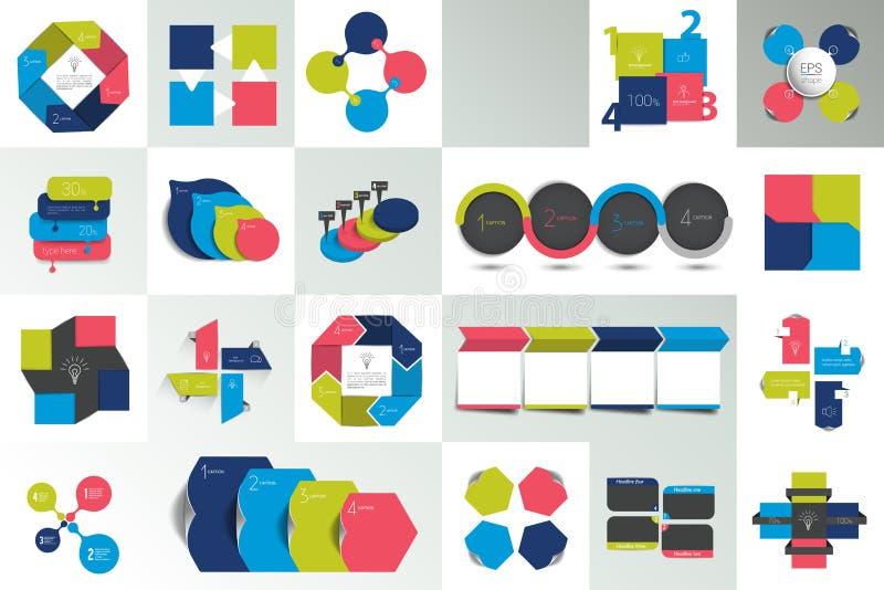 Комплект 4 диаграмм части варианта, схем, диаграмм, схем технологического процесса Постепенное представление 4 бесплатная иллюстрация