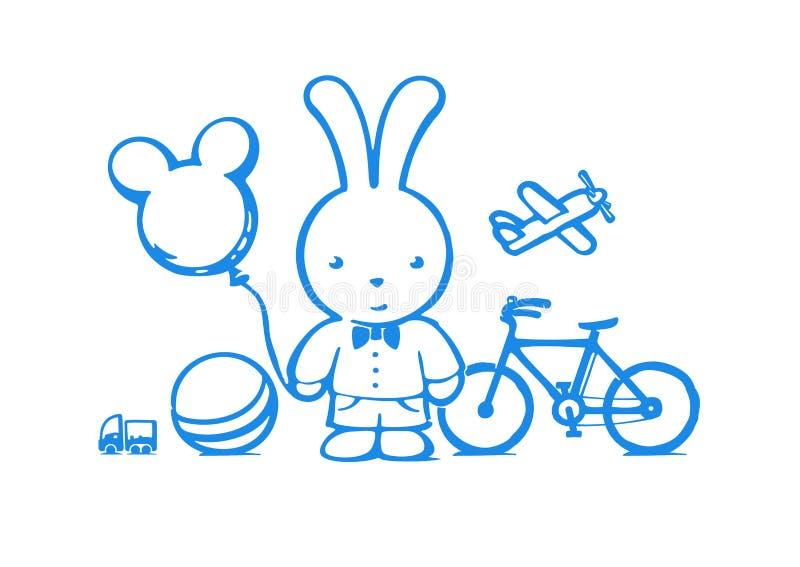 Комплект игрушек для мальчика бесплатная иллюстрация