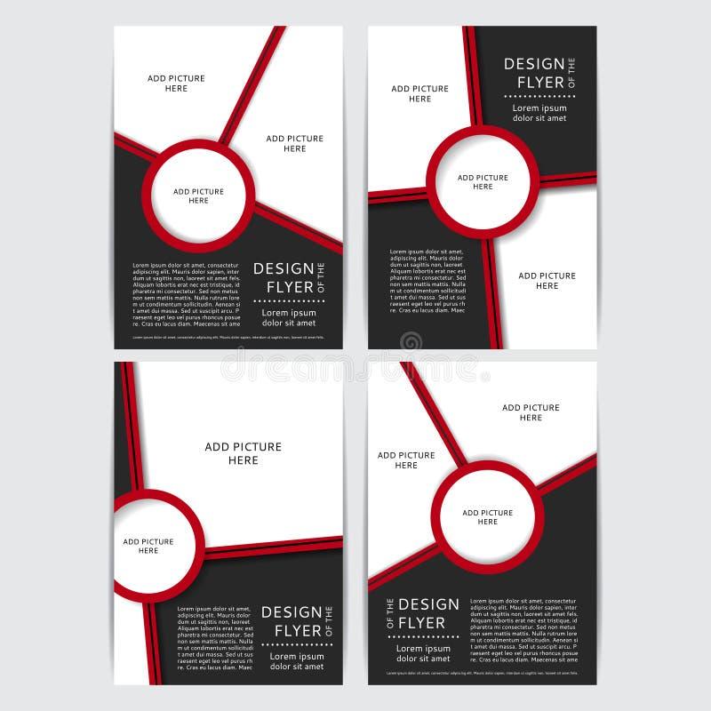 Комплект дизайна красных и черных рогулек vector иллюстрация иллюстрация вектора