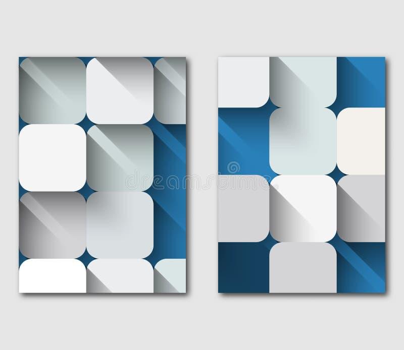 Комплект дизайна шаблона рогульки дела технологии иллюстрация штока