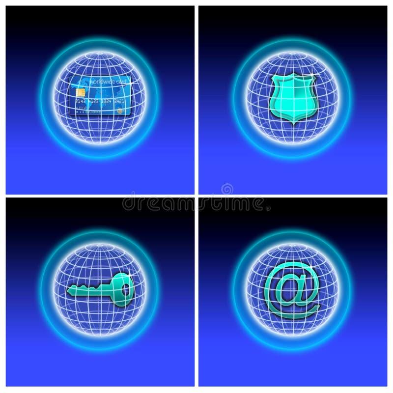 Комплект безопасного интернета иллюстрация вектора