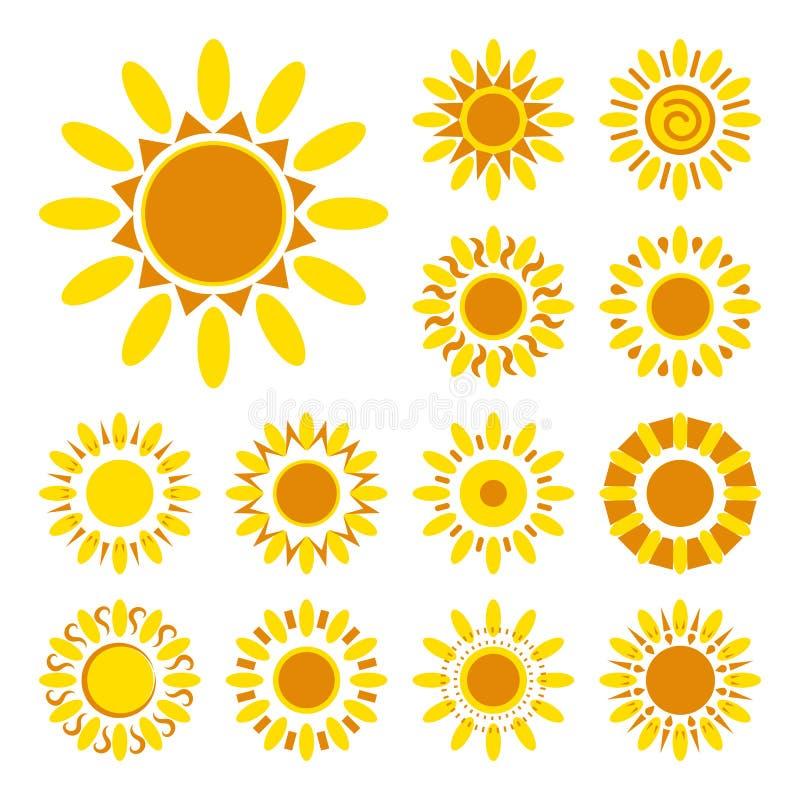 Комплект изолированных значков маргаритки Силуэты простых цветков вектора иллюстрация штока