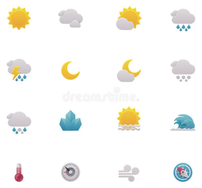Иконы погоды вектора иллюстрация вектора