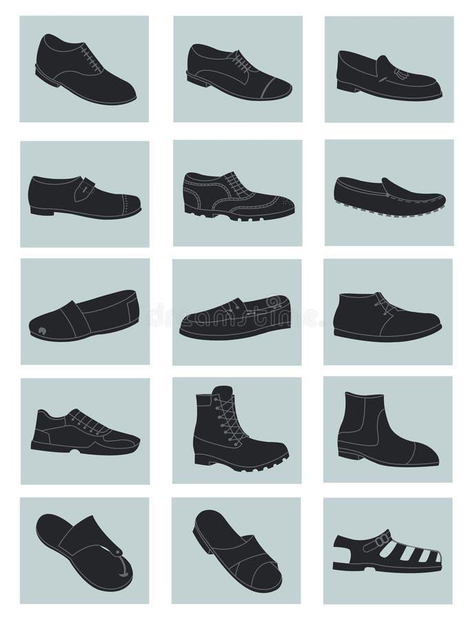 Ботинки людей иллюстрация вектора