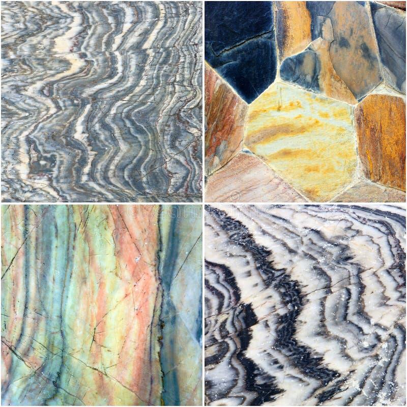 Комплект линии на предпосылке текстуры камня мрамора кривого стоковые фото