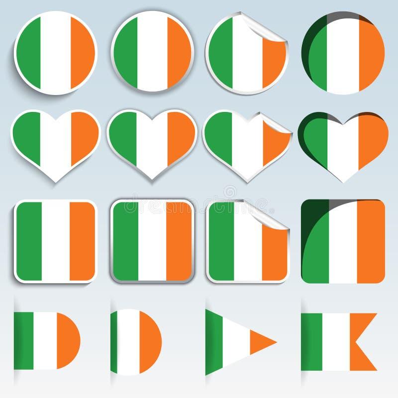 Комплект Ирландии сигнализирует в плоском дизайне иллюстрация вектора