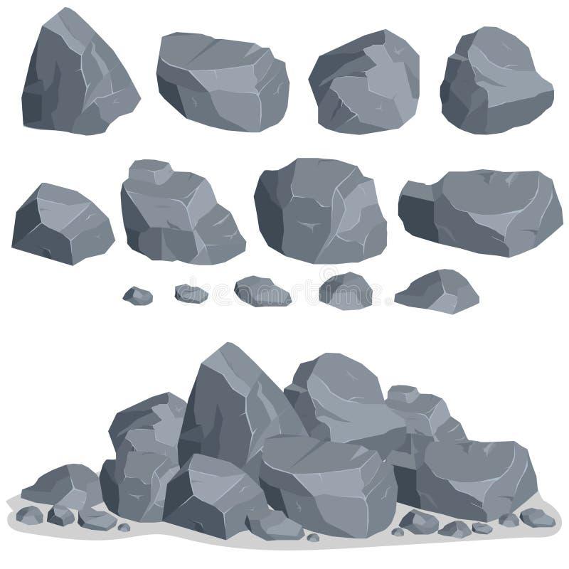 Комплект камня утеса иллюстрация штока