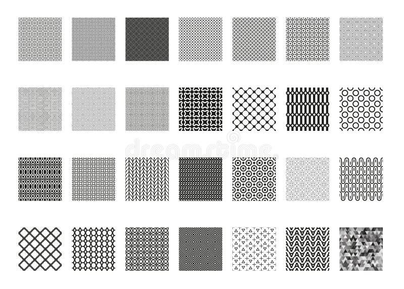 Комплект картины вектора безшовный, собрание, бесконечная текстура для обоев, заполнений картины, предпосылки интернет-страницы,  иллюстрация вектора