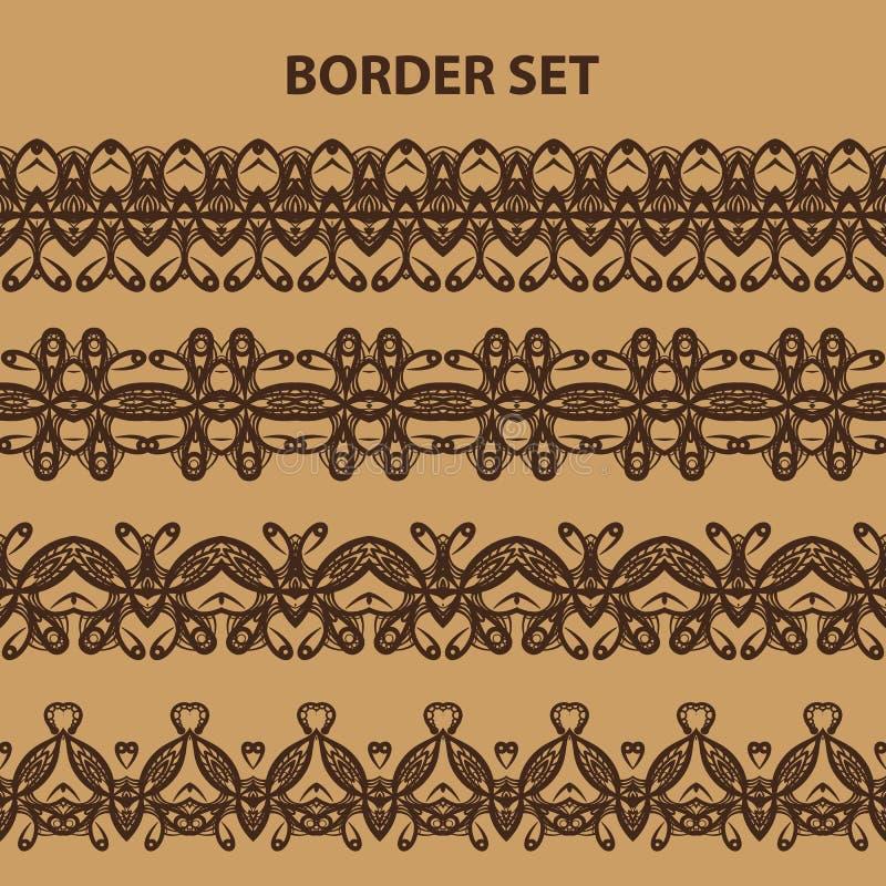 Комплект картины границы Брайна иллюстрация вектора
