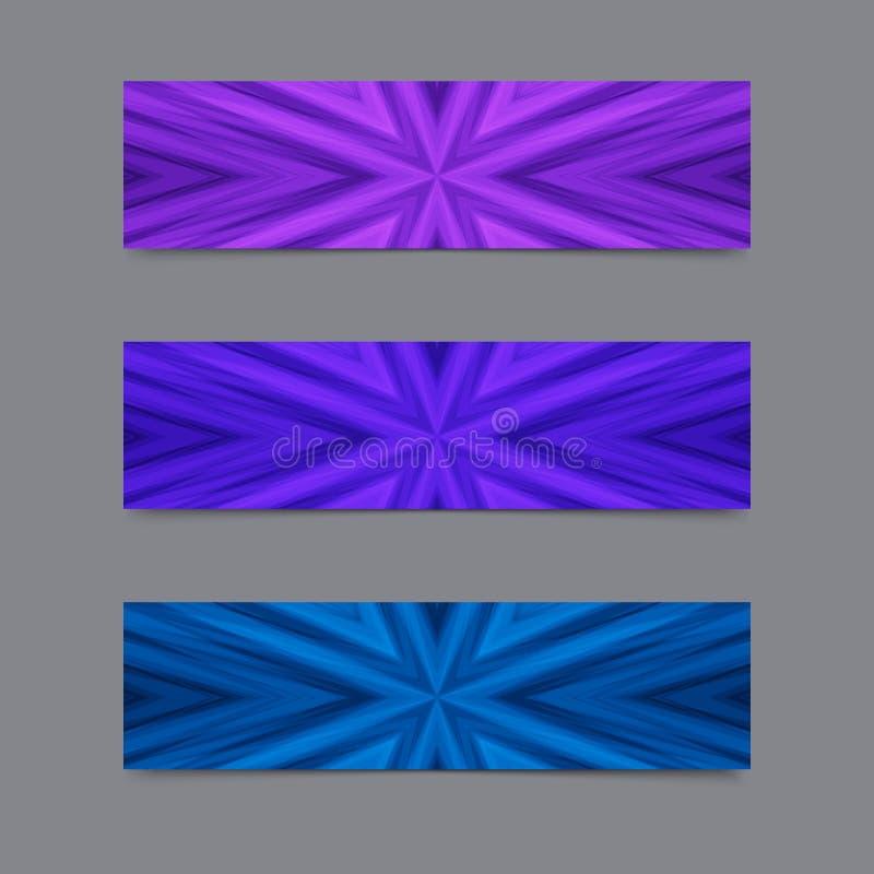 Комплект карточек или знамен с голубой и фиолетовой Striped текстурой бесплатная иллюстрация