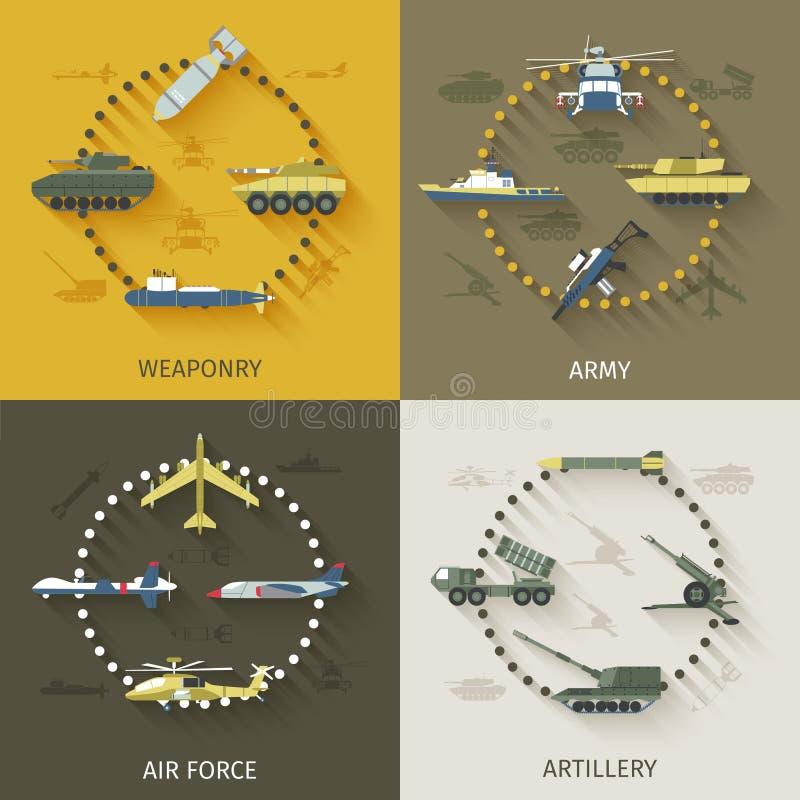 Комплект квартиры армии иллюстрация штока