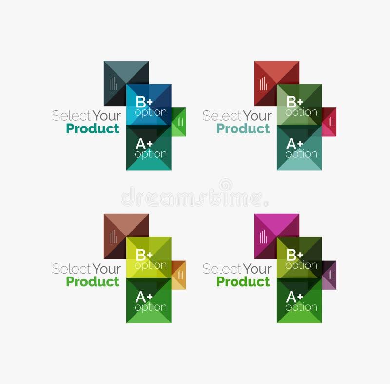 Download Комплект квадратных абстрактных шаблонов или Infographics предпосылки Иллюстрация вектора - иллюстрации насчитывающей цвет, меню: 81805391