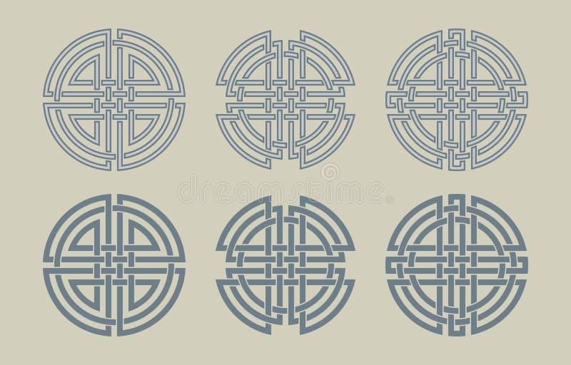 Комплект кельтских кругов стоковое изображение rf