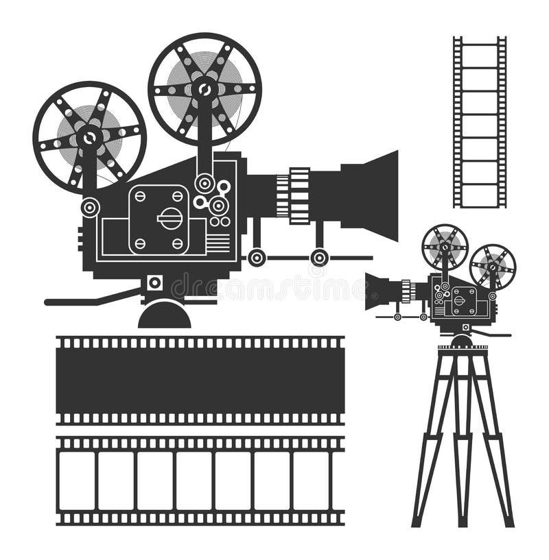 Комплект кино иллюстрация вектора