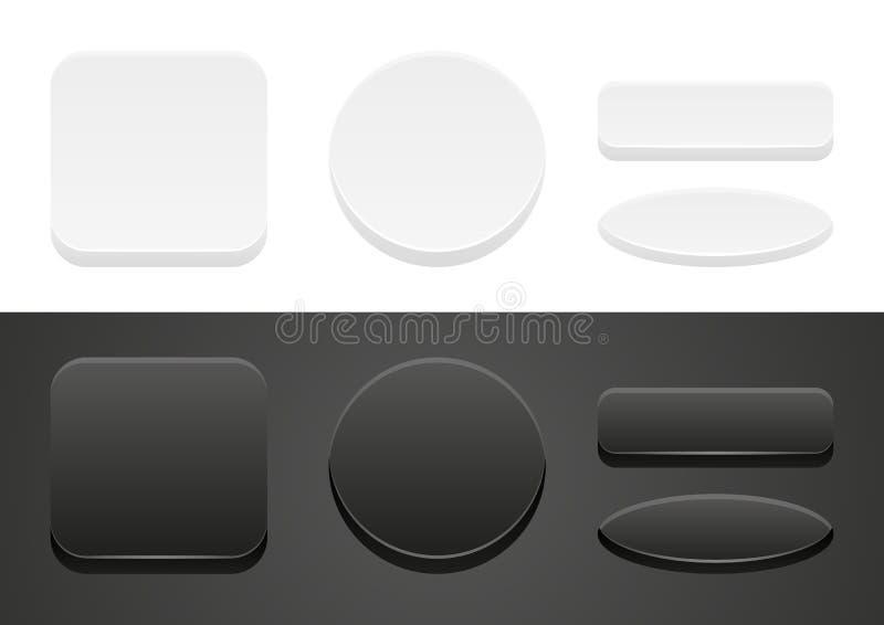 Комплект кнопок сети иллюстрация штока