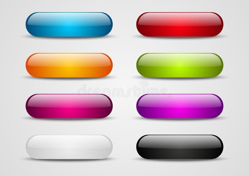 Комплект кнопок бесплатная иллюстрация