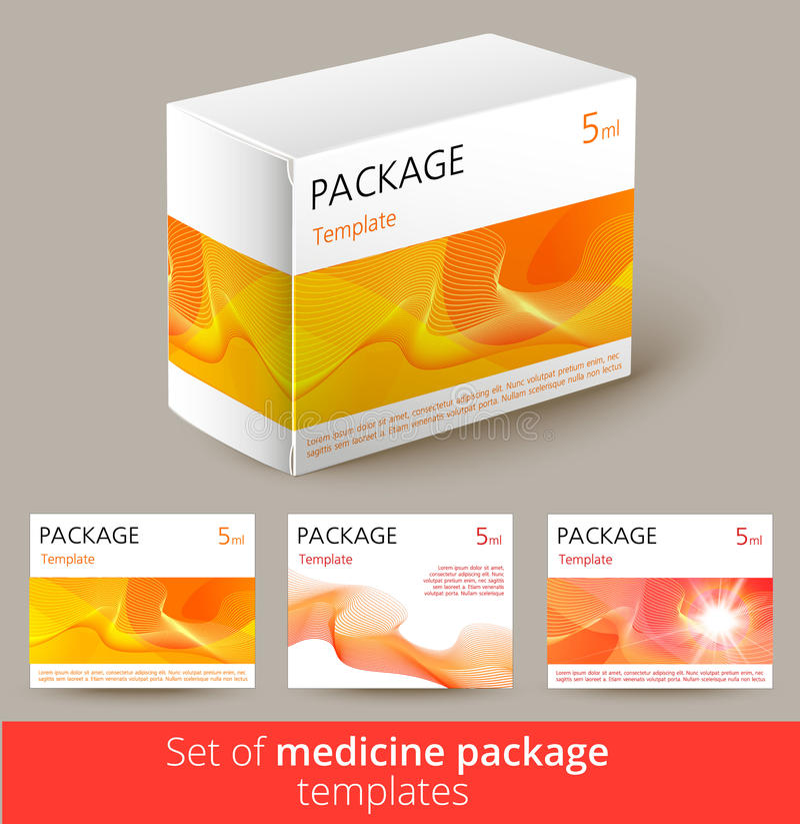 Комплект комплексного конструирования медицины с 3d-template бесплатная иллюстрация