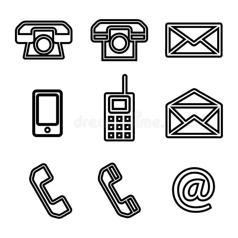 Комплект контакта мы значки вектора бесплатная иллюстрация