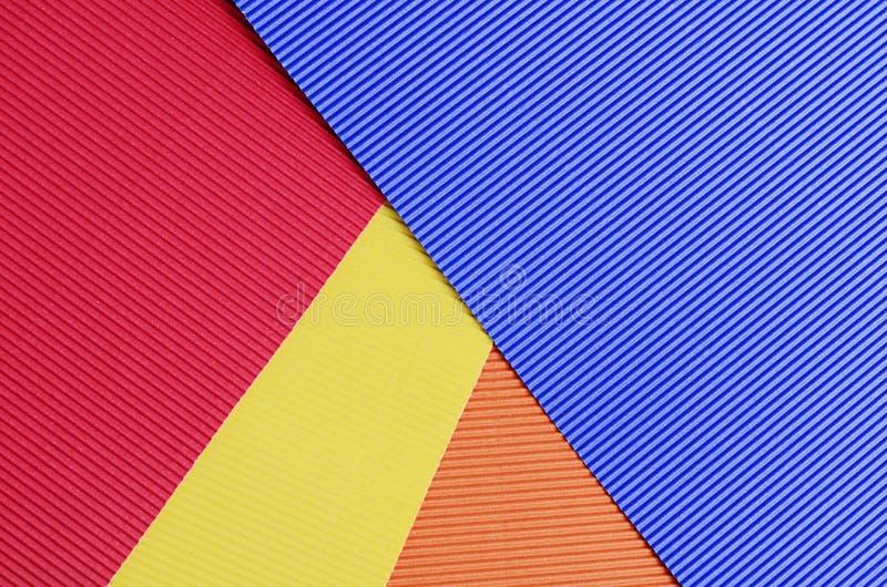 Комплект конца бумаги crepe цвета вверх стоковое изображение