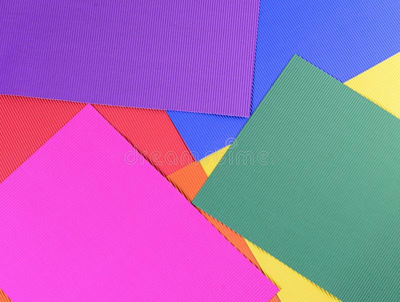 Комплект конца бумаги crepe цвета вверх стоковые фото