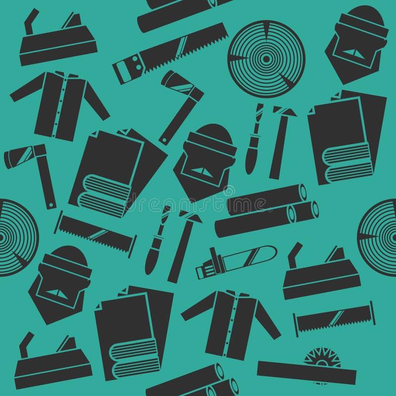 Комплект коллажа Lumberjack иллюстрация штока