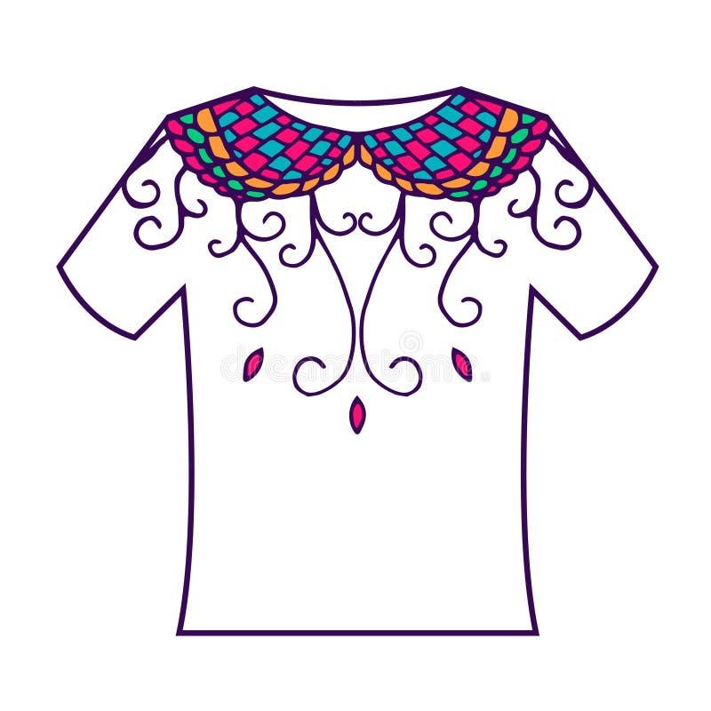 Комплект красочного пробела с орнаментом doodle вектор иллюстрация штока
