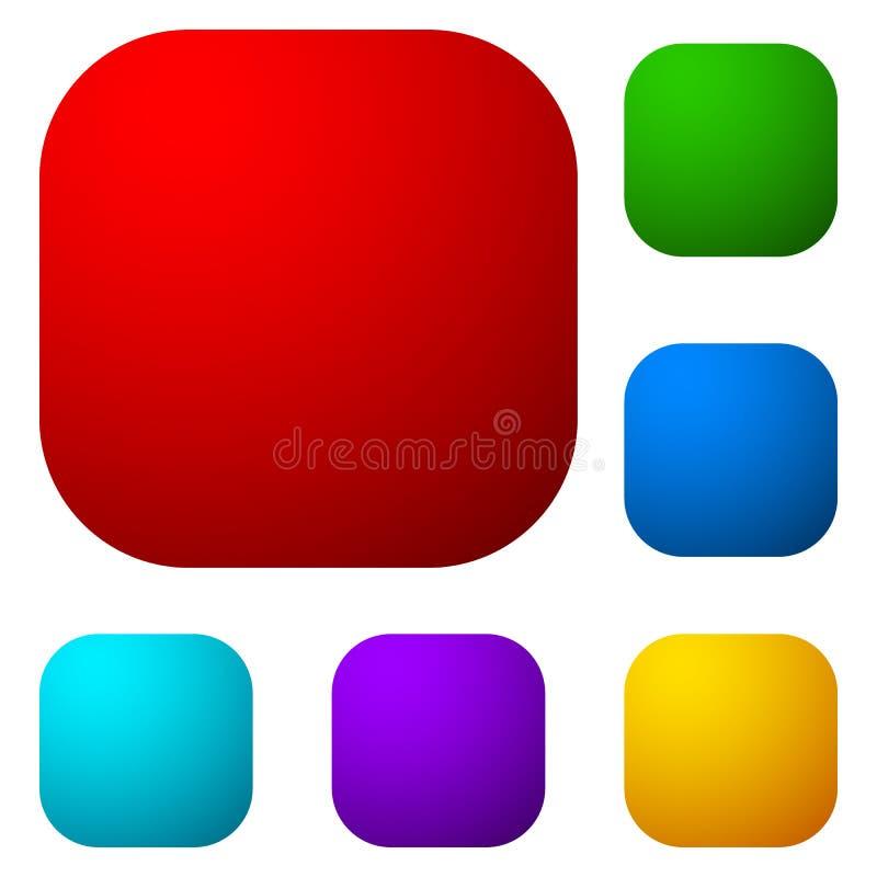 Комплект красочной кнопки, значка формирует, предпосылки бесплатная иллюстрация