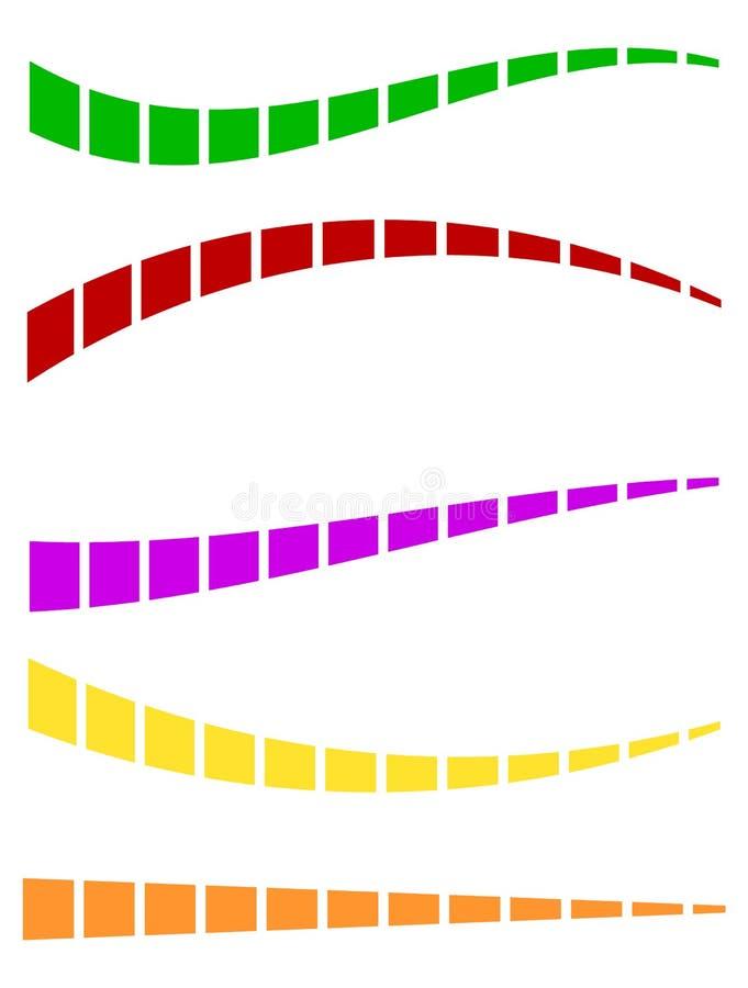 Download Комплект красочных брошенных линий в различных направлениях Иллюстрация вектора - иллюстрации насчитывающей горизонтально, curvy: 81811430